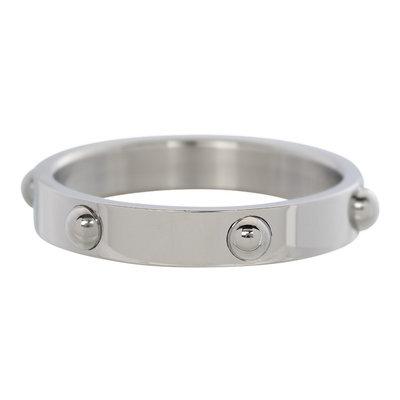 iXXXi Ring 4mm Edelstaal Dots Zilverkleurig