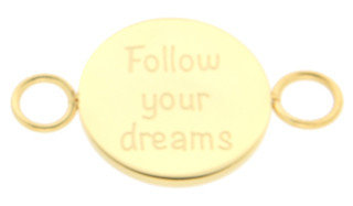 iXXXi Bangle Meddy  Follow Your Dreams Edelstaal Goudkleurig