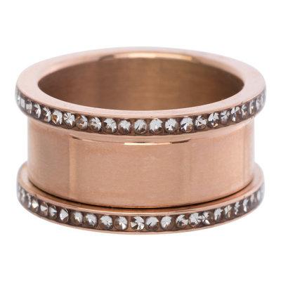 iXXXi Basis Ring 6-10mm Zirkonia Edelstaal Rose Goudkleurig