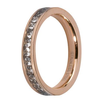 Melano Friends Side Ring Rose Goudkleurig, Zirkonia Stones Crystal