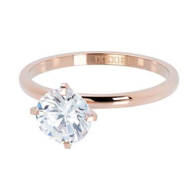 iXXXi Ring 2mm Rose Goudkleurig Secure Stone Crystal
