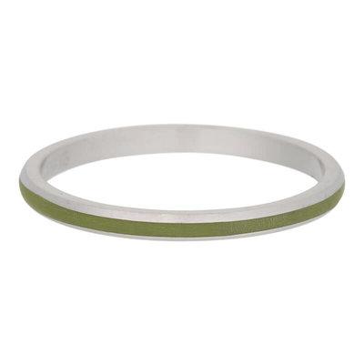 iXXXi Ring 2mm Edelstaal Mat Line Olivina