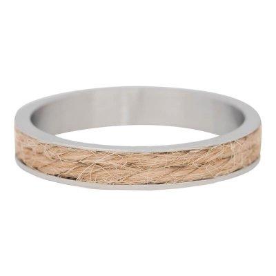 iXXXi Ring 4mm Edelstaal Zilverkleurig Sand Rope