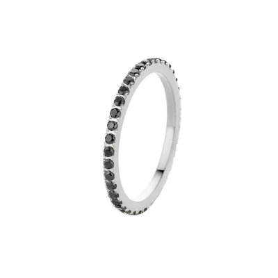 Melano Friends Ring Sade Stainless Steel Silver-coloured Zirkonia Crystal