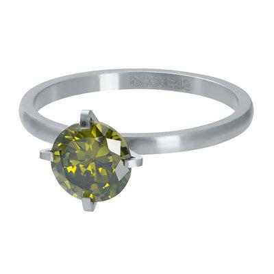 iXXXi Ring 2mm Mat Zilverkleurig Secure Stone Olivina