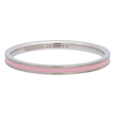 iXXXi Ring 2mm Edelstaal Line Pink