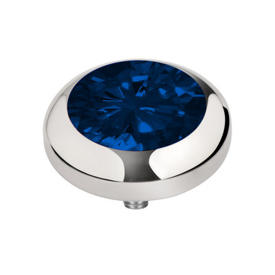 Melano Vivid Zirkonia Meddy Edelstaal Zilverkleurig Navy Blue