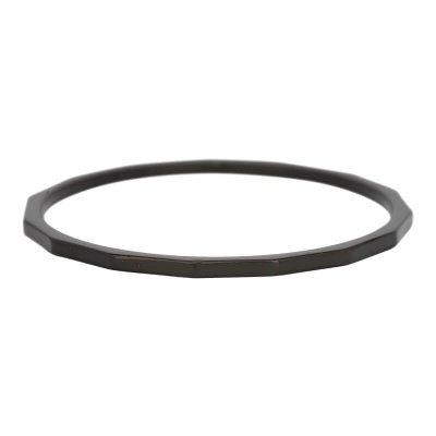 iXXXi Ring 1mm Edelstaal Zwart Angular