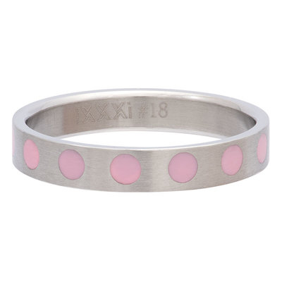 iXXXi Ring 4mm Edelstaal Round Pink