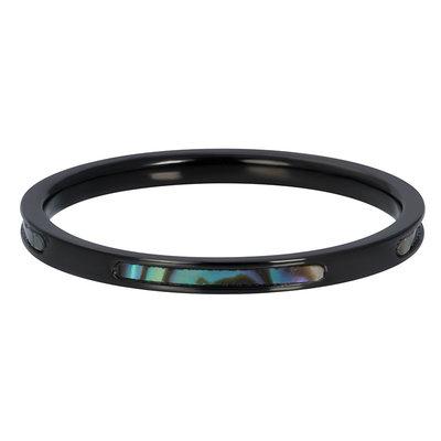 iXXXi Ring 2mm Blue Amber Black