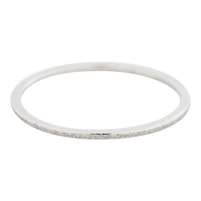 iXXXi Ring 1mm Edelstaal Zilverkleurig Sandblasted