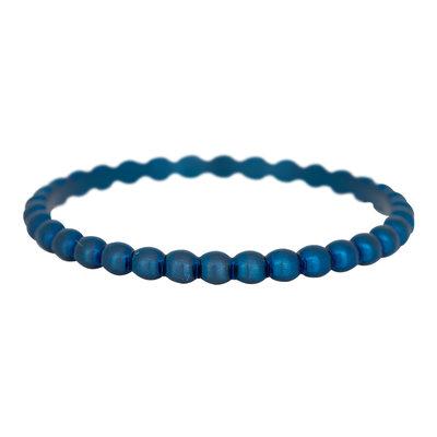 iXXXi Ring 2mm Edelstaal Bolletjes Blauw
