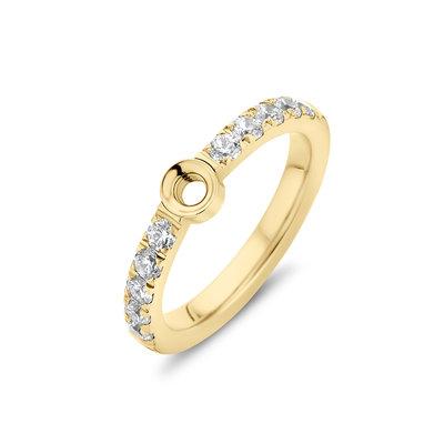 Melano Twisted Zirkonia Ring Gold coloured