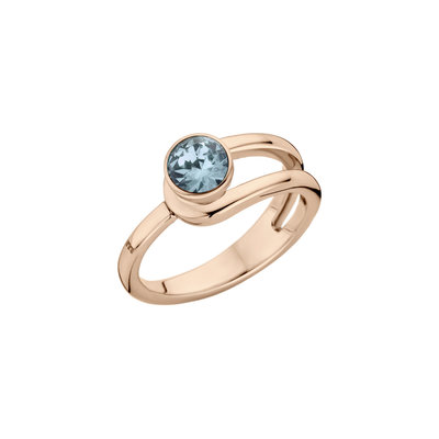 Melano Twisted Ring Taheera Edelstaal Rose Goudkleurig