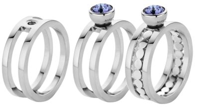 Melano Twisted Ring Trista Edelstaal Zilverkleurig