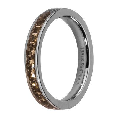 Melano Friends Side Ring, Zirkonia Stones Black Diamond