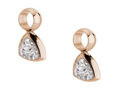 Melano Kim Oorbelhangers Edelstaal Rose Goudkleurig Zirkonia Crystal