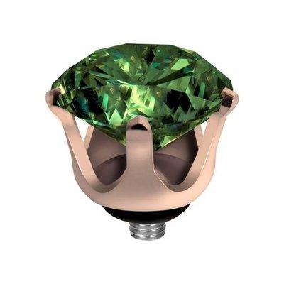 Melano Twisted Crown Edelstaal Meddy Rose Goudkleurig Olive