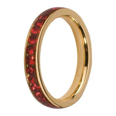 Melano Friends Side Ring Goudkleurig, Zirkonia Stones Light Siam