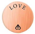 Alexander Jacobs Jewels Back Plate Edelstaal Rose Goudkleurig Love 30mm
