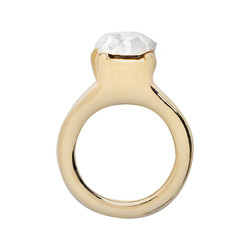Alexander Jacobs Jewels Floating Charm Edelstaal Goudkleurig Ring