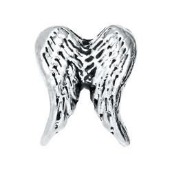 Alexander Jacobs Jewels Floating Charm Edelstaal Zilverkleurig Vleugels
