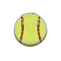 Alexander Jacobs Jewels Floating Charm Edelstaal Tennis Bal