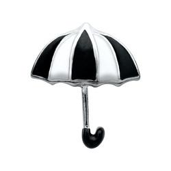 Alexander Jacobs Jewels Floating Charm Edelstaal Zwart Witte Paraplu
