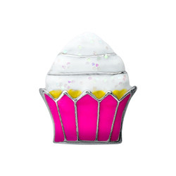 Alexander Jacobs Jewels Floating Charm Edelstaal Rose Cupcake