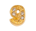 Alexander Jacobs Jewels Floating Charm Edelstaal  Goudkleurig 9