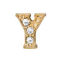 Alexander Jacobs Jewels Floating Charm Edelstaal  Goud Y