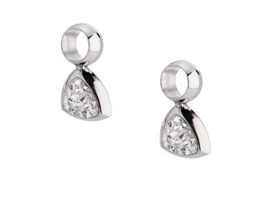 Melano Kim Oorbelhangers Edelstaal Zilverkleurig Zirkonia Crystal