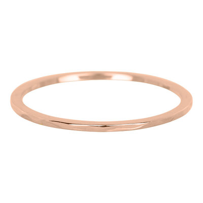 iXXXi Ring 1mm Edelstaal Rose Goud Wave