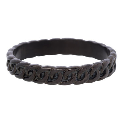 iXXXi Ring 4mm Edelstaal Curb Chain Zwart