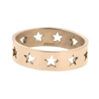 iXXXi Ring 6mm Rose Goud Open Stars