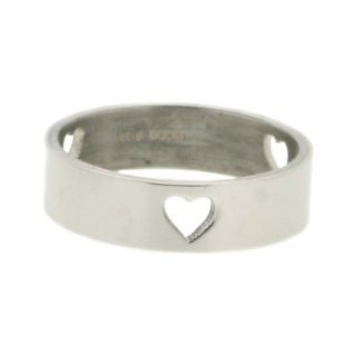 iXXXi Ring 6mm Stainless Steel 3 Open Hearts
