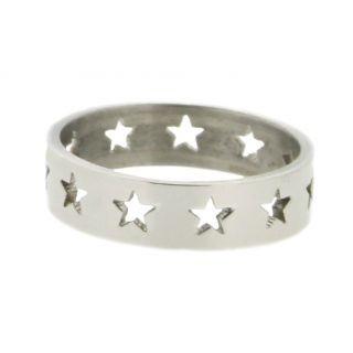 iXXXi Ring 6mmStainless Steel Open Stars