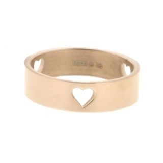 iXXXi Ring 6mm Rose Goud 3 Open Hearts