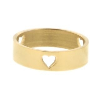 iXXXi Ring 6mm Goud 3 Open Hearts