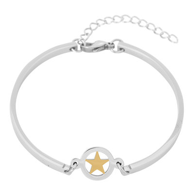 iXXXi Edelstaal Spang armband Ster Goud 17cm - 20cm