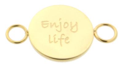 iXXXi Bangle Setting  Enjoy Life RVS Goud