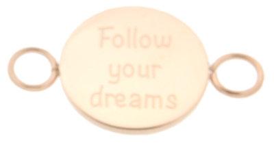 iXXXi Bangle Setting  Follow Your Dreams RVS Rose Goud
