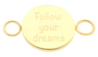 iXXXi Bangle Setting  Follow Your Dreams RVS Goud