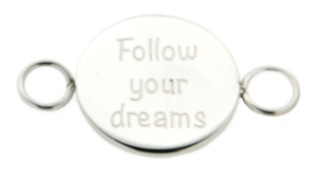iXXXi Bangle Setting  Follow Your Dreams RVS