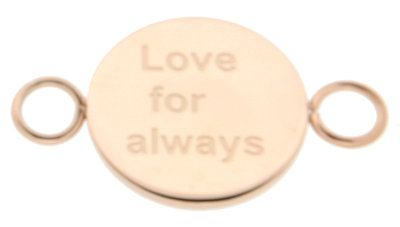 iXXXi Bangle Setting  Love for Always RVS Rose Goud