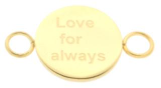 iXXXi Bangle Setting  Love for Always RVS Goud