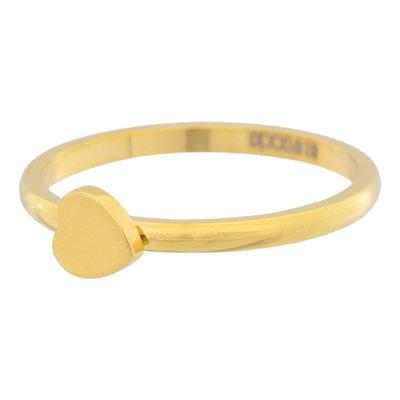 iXXXi Ring 2mm Edelstaal Goud Hartje