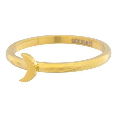 iXXXi Ring 2mm Edelstaal Goud Maan