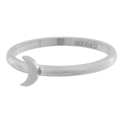 iXXXi Ring 2mm Edelstaal Zilver Maan