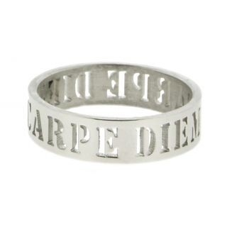 iXXXi Ring 6mm Stainless Steel Open Carpe Diem